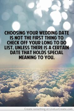 Wedding planning tip one