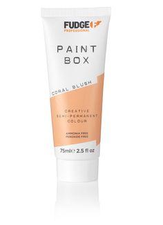 Fudge Professional Paintbox Creative Semi-Permanent Colour Coral Blush 75ml.