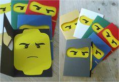 Lego Ninjago Party- Einladungen- Invitations