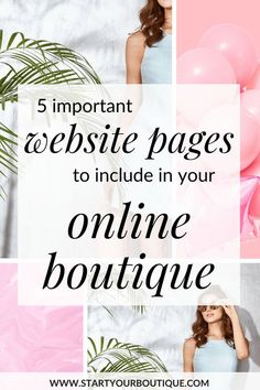 Starting an online boutique business? When you create your online boutique website it needs to sell just like a salesperson. Click through to learn 5 must have necessary website pages for your online boutique. Internet Marketing, Social Media Marketing, Online Marketing, Business Marketing, Business Hashtags, Marketing Plan, Business Branding, Digital Marketing, Starting An Online Boutique