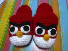 pantunflas crochet angry birds