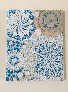 Best Ideas For Crochet Doilies Vintage Wall Art Framed Doilies, Lace Doilies, Crochet Doilies, Doily Art, Craft Projects, Sewing Projects, Diy And Crafts, Arts And Crafts, Doilies Crafts