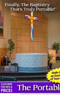 Portable Baptistry Baptistry Water Tank Storage Cabinet
