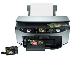 The Epson Stylus Photo has a large flatbed scanner you can utilize to scan flat things and pages from bound books, something you can't make with a page-fed Portable Printer, Printer Driver, Mac Os, Stylus, Epson, Linux, Manual, Software, Style