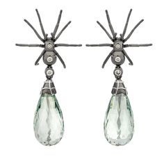 Spider drop earrings by Theo Fennel - deliciously creepy ♥