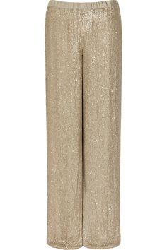 99e777a76536c ahhhh so cool. michael kors silk-chiffon glitter wide leg pantssss!  6