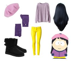 """""""South Park: Wendy Testaburger"""" by miss-alex-andra ❤ liked on Polyvore featuring Betmar, Sally&Circle, Portolano, UGG Australia, CasualCosplay, southpark, characterset and wendytestaburger"""