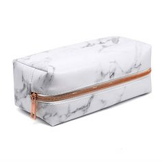 I love this White Marble Pencil Case. The rose gold zipper is brilliant! I love this White Marble Pencil Case. The rose gold zipper is brilliant!