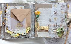 Elena Olinevich: Easter Album - Maja Design and Wycinanka Mini Scrapbook Albums, Baby Scrapbook, Diy Crafts For Girls, Handmade Books, Handmade Cards, Mini Album Tutorial, Baby Album, Book Making, Card Making