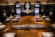 Arial view of the Union League of Philadelphia {Design: TableArt| Jennifer Woodruff Photography}