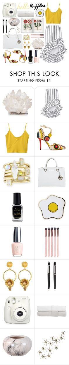 """Untitled #168"" by fjannah on Polyvore featuring Kathryn McCoy Design, Caroline Constas, Charlotte Olympia, Michael Kors, Barry M, Dolce&Gabbana, Cartier, Fuji, Home Decorators Collection and Global Views"