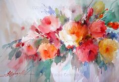 Roses and Greens, by Fábio Cembranelli - A Painter's Diary