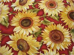 Sunflower Fabric for Windows