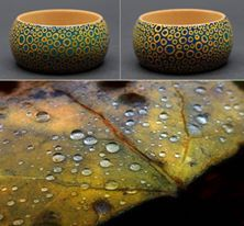"""Unique hand painted - Dot Painting technique - wooden bracelet """"Dry, Hot and Wet"""" by Matilda-Dolls & Bracelets http://www.matilda-dolls.com/  (Inspired with dry ... hot ... and wet Autumn ... November rain; Photo: Zsaj)"""