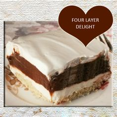 Four Layer Delight Recipe from Grandmother's Kitchen