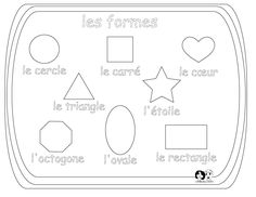 French for Kids /  Français Activités à Imprimer - Worksheet Shapes