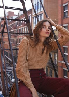 Pull Orson et pantalon Francesca - 7 days in New York www.sezane.com #sezane #7daysinnewyork #automnecollection