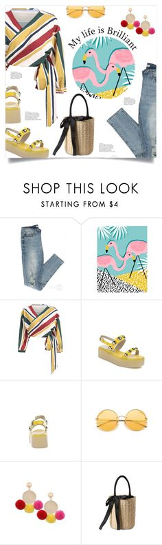 """Summer Nights: Beach Bonfire"" by mahafromkailash ❤ liked on Polyvore featuring Summer, chic and stripes"