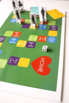 DIY Family Game Board: Craft up your own game with your kids using simple craft materials. Then you can enjoy playing it for family game night!