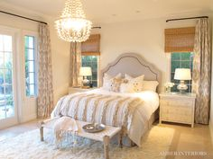 curtains --neutrals--- bedroom --Amber Interior Design
