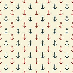 Sweet nautical digital pattern set from parasoldigital.com. Free!
