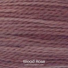 A ColourSpun Pure Cotton yarn and embroidery thread colour swatch. This colour is called Wood Rose Yarn Colors, Colours, Colour Swatches, Super Chunky Yarn, Embroidery Thread, Color Inspiration, Weaving, Knitting, Rose