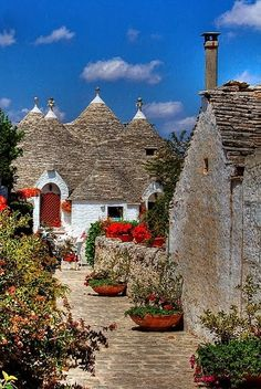 Trulli houses, Alberobello, Italy -   For more wedding tips and ideas go to my blog. www.mrspurplerose.com