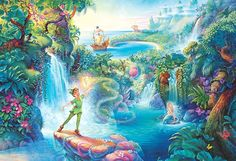 Image shared by HeartLaney. Find images and videos about disney, peter pan and neverland on We Heart It - the app to get lost in what you love. Walt Disney, Disney Pixar, Deco Disney, Disney Love, Disney Magic, Disney Art, Disney Characters, Peter Pan Disney, Peter Pan And Tinkerbell