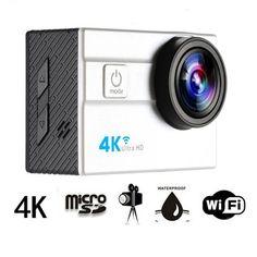 HDKing Q5H-1 25mm 173° Ultra-wide Lens Mini 4K Sports Camera WiFi Ultra HD 30M Waterproof Action Camera 2.0inch LCD Screen Sports DV Video Camcorder 25fps 64GB