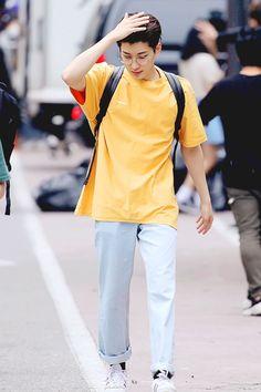 """""""Tolong banget nih ya untuk sering-sering ngaca dan inget usia. Lo ud… #fiksipenggemar # Fiksi penggemar # amreading # books # wattpad Mingyu Wonwoo, Seungkwan, Woozi, Vernon Seventeen, Seventeen Wonwoo, Boy Fashion, Mens Fashion, Korean Fashion, Nerdy Shirts"""