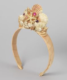 Take a look at this Gold & Ivory Mermaid Seashell Tiara on zulily today!