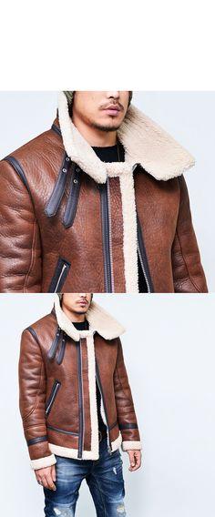 Outerwear :: Double-belt Buffalo Highneck Flight Jacket-Leather 76 - Mens Fashion Clothing For An Attractive Guy Look