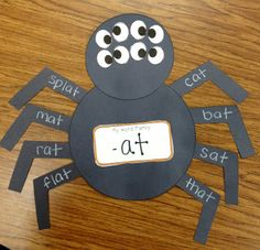 Easy to adapt for any word family. After making the craft, have each child choose a word, use it in a sentence, and write that sentence on the back of the craft.