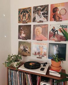 He finally put up my vinyl wall! Now our days will be spent swapping NOFX out for the A Star Is Born soundtrack and Action Bronson for the… #aesthetichomedecor
