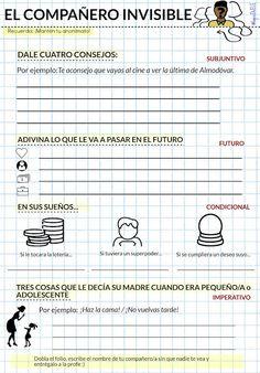 Lápiz de ELE Spanish Teacher, Spanish Classroom, Teaching Spanish, Teaching English, English Activities, Writing Activities, Classroom Activities, Teachers Toolbox, Texts