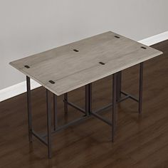Convertible Wood Dining Table Grey Sofa In Kitchen Ideas