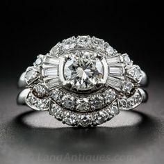 .60 Carat Mid-Century Diamond Wedding Set by Granat Bros.