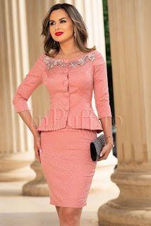 Peplum Dress, Coral, Costume, Dresses, Fashion, Vestidos, Moda, La Mode, Peplum Dresses