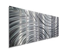 Large Silver Modern Metal Art  Abstract by JonAllenMetalArt