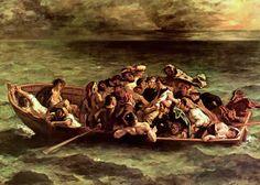 Delacroix, Le Naufrage de Don Juan, 1840