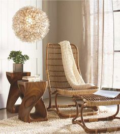 Eco Living... Bruges Chair and Ottoman - VivaTerra