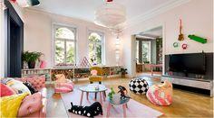 Skulle du låta ett gäng barn bestämma inredning och färg i din paradvåning i Stockholm? Dessa säljare gjorde det - och resultatet är så coolt! #beckers http://www.senses.se/mala-lagenhet-med-100-liter-farg-om-barnen-sjalva-far-bestamma/