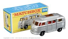 Matchbox Regular Wheels No.34c Volkswagen Transporter Camper Van.