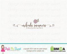 Rose logo design photographie logo fleur logo design fleuriste logo design Graphisme premade image de marque de logo conception de logo design filigrane