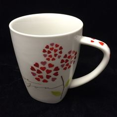 Starbucks Valentine I Love You Coffee Tea Cup Collectible Mug 12 oz 2007 #StarbucksCoffee