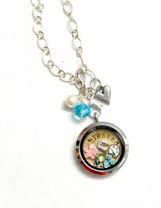 DIY beaded charm for bracelet or necklace...or add to your Origami Owl locket.