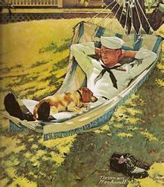 """On Leave"" ... by Norman Rockwell  Saturday Evening Post Cover September 15, 1945"