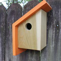 Die Nook | Eine moderne Voliere  Stilleben ist eine moderne / minimalistische Vogelhäuschen pro die Audubon und Cornell University Empfehlungen zum Schachteln Boxen gebaut. Diese Voliere ist geeignet für drosseln und Zaunkönige. Der Rücken ist für die empfohlene jährliche Reinigung abnehmbar.  Die Modern/minimalistischen Linien und Design wäre eine perfekte Ergänzung zu Ihrem modernen Garten machen.  Sie können das Haus auf ein Pfosten, Zaun, Mauer, und oder Baum unter Verwendung der…