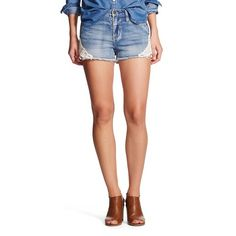 895be3f52f5 Women s High Rise Jean Short Light Wash with Destruction - Mossimo®