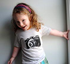 Camera TShirt Baby Camera Shirt  Toddler Camera by WrenWillow, $22.00